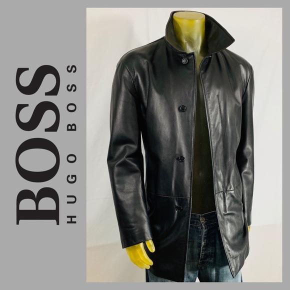 f3c658e21 Hugo Boss Jackets & Coats | Lamb Leather Jacket | Poshmark